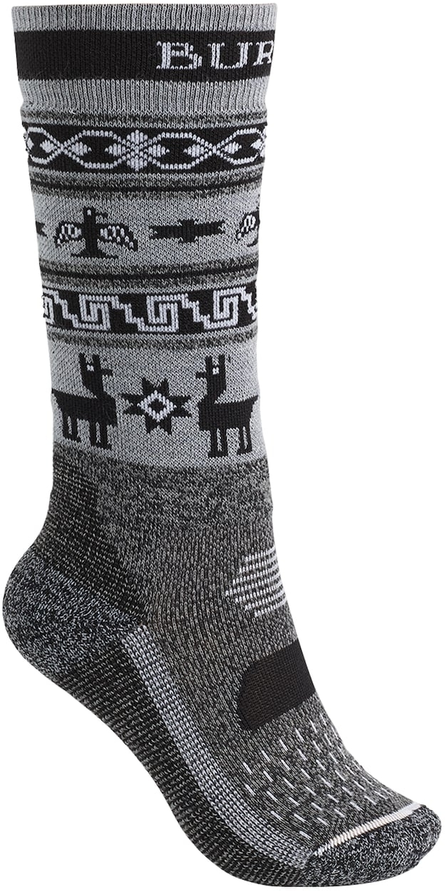 Burton Youth Performance Midweight Snowboard Sock True Black Heather S/M