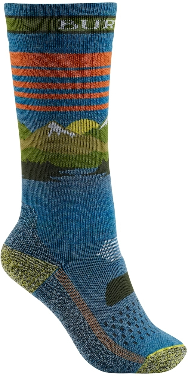 Burton Youth Performance Midweight Snowboard Sock Mood Indigo S/M