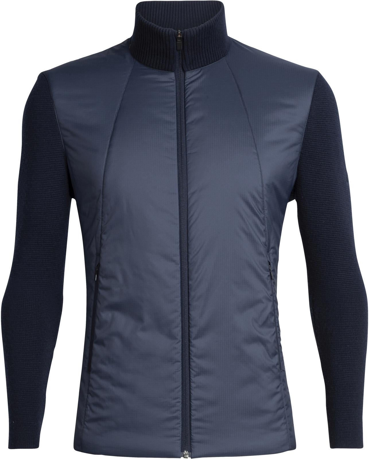 Icebreaker Mens Lumista Hybrid Sweater Jacket - midnight navy L