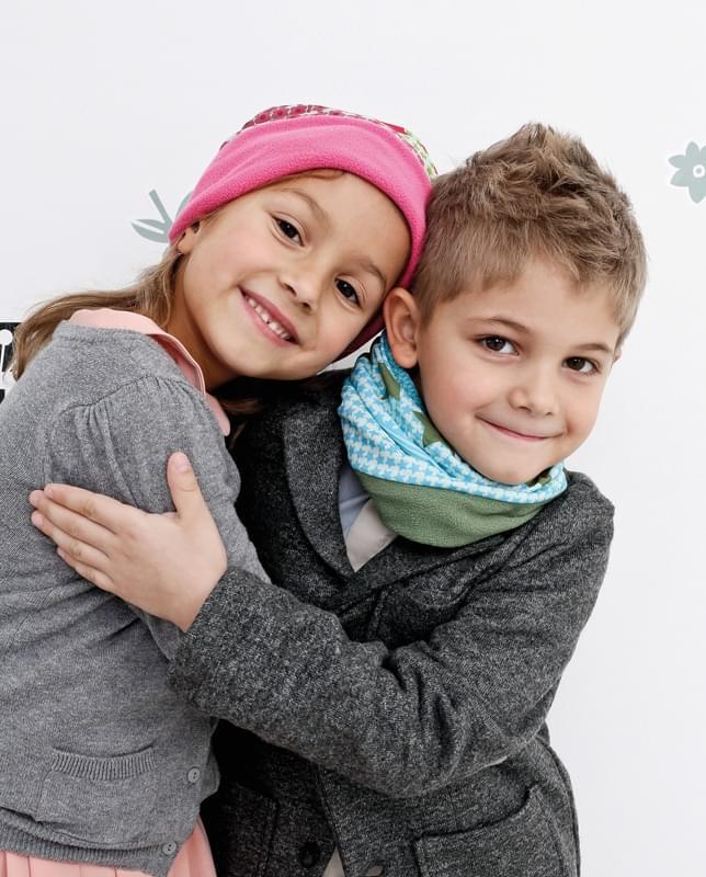 43c656b67a3 Dětský šátek Lässig Twister Kids Fleece - flowers pink choco fleece choco  ...