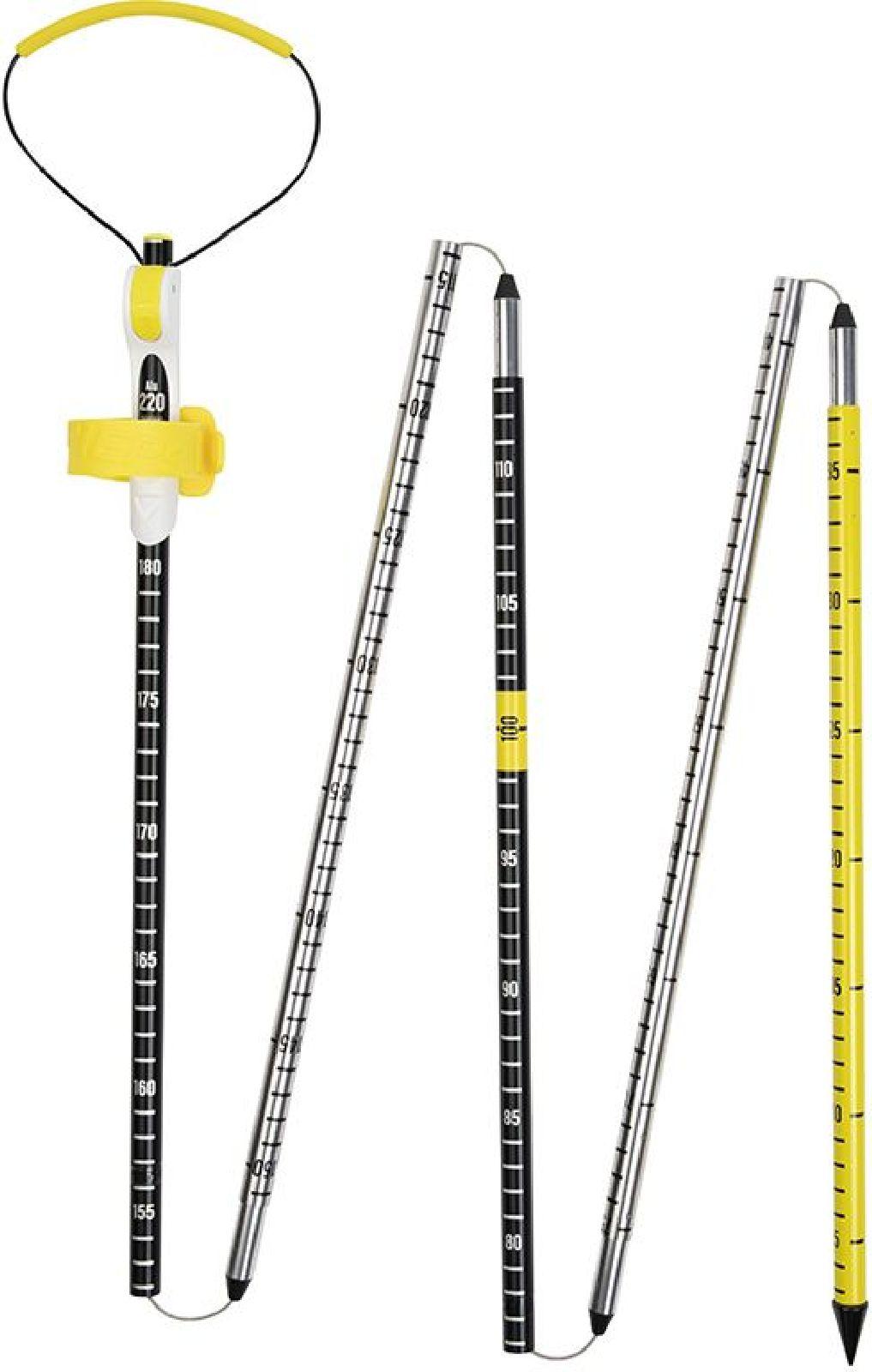 Pieps Probe Alu 220 Sport - black/silver/yellow uni
