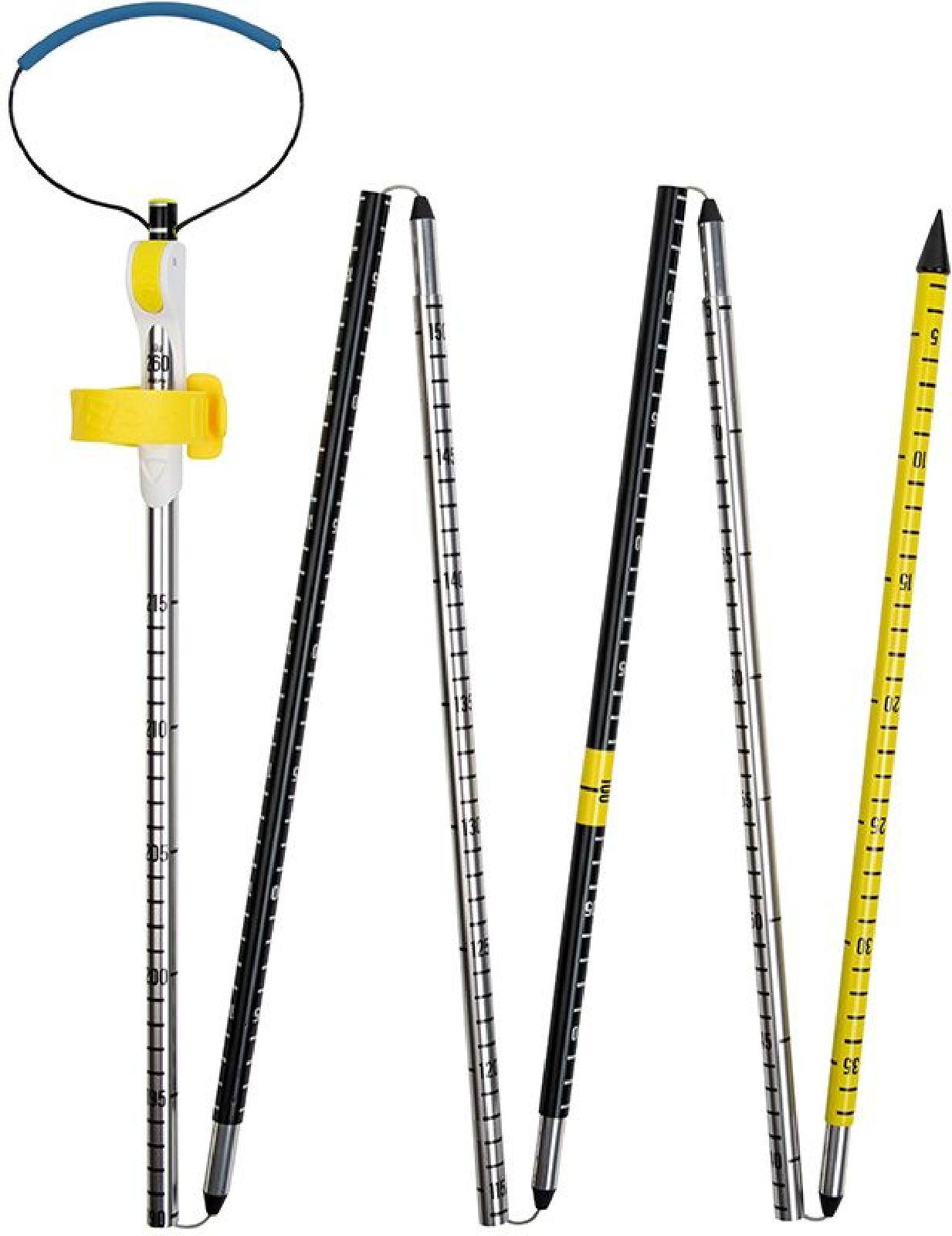 Pieps Probe Alu 260 Sport - black/silver/yellow uni
