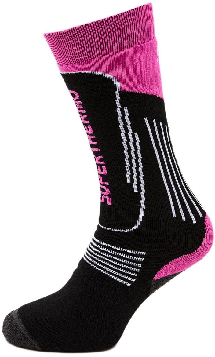 Mico Heavy Weight Superthermo Primaloft Kids Ski Socks - nero fucsia fluo 36-38