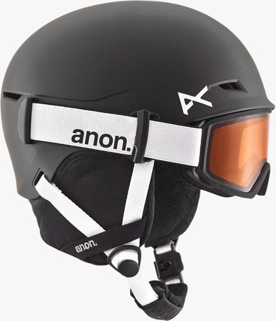 Dětská lyžařská helma a brýle Anon Define - black L/XL (52-55)