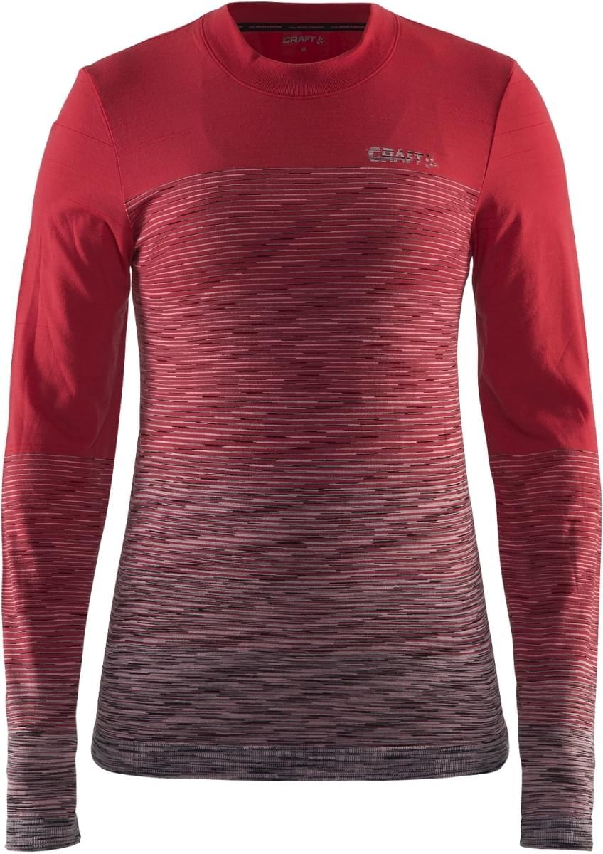 d0d6d21229c Dámské funkční triko s dlouhým rukávem Craft Wool Comfort - červená šedá