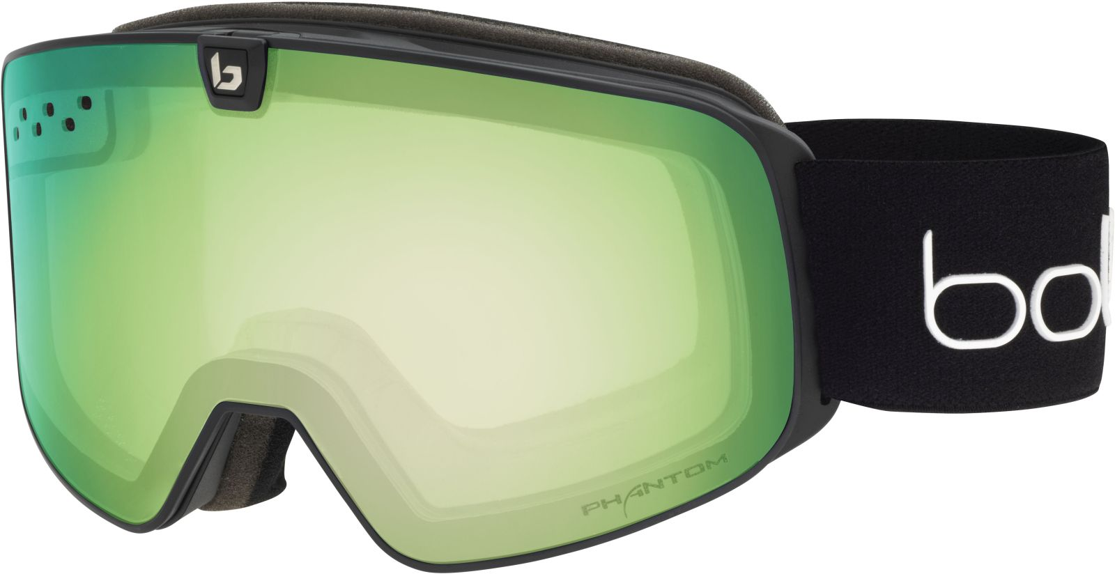 Bollé Nevada Neo - Black Matte / Phantom Green Emerald & Lemon uni