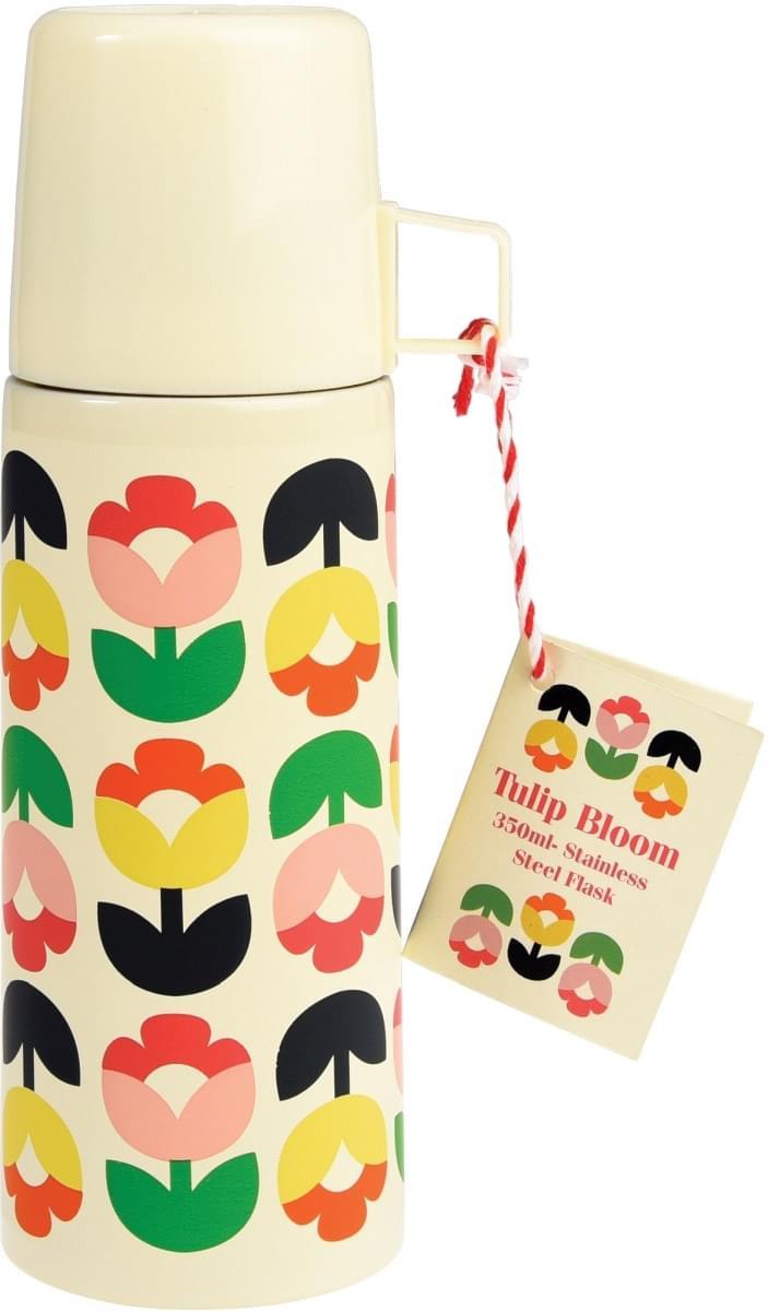Dětská termoska s hrnečkem - rozkvetlé tulipány uni