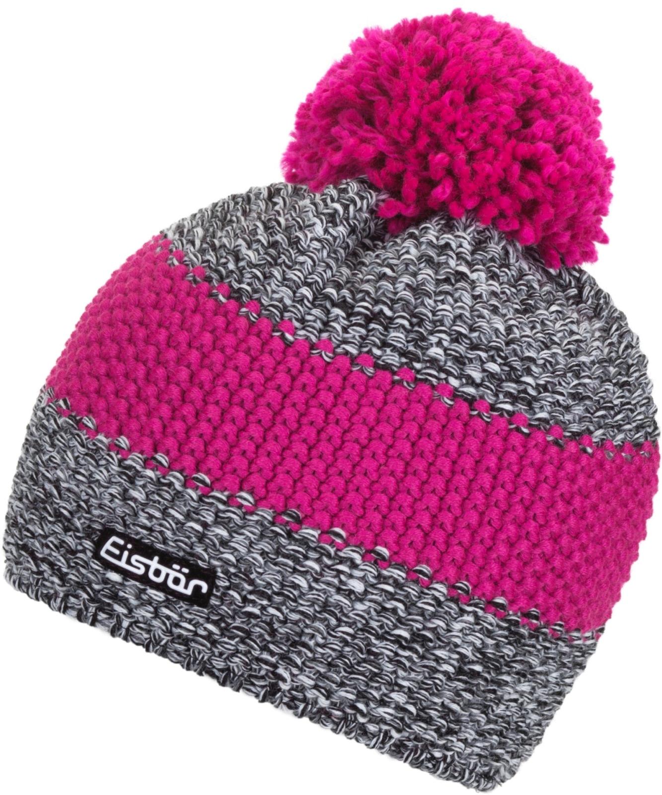 Zimní čepice Eisbär Styler Pompon MÜ - schw weissmele d.pink-d.pink ... 9ec04404e3