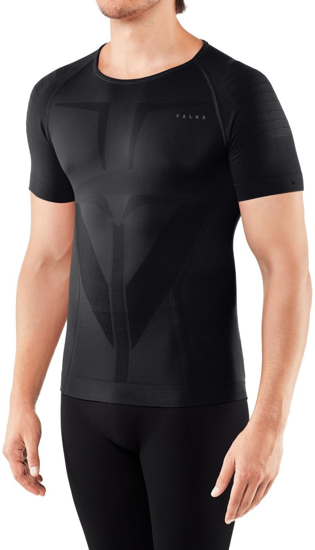 Levně Falke Men Short sleeved Shirt Warm TF - black XL