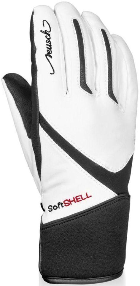 Dámské lyžařské rukavice Reusch Tomke SBX - white black - Ski a Bike ... a4ebeb554b