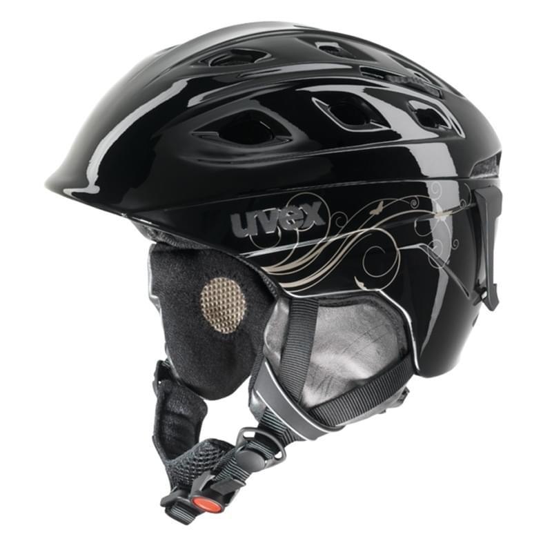 Dámská lyžařská helma UVEX Funride 2 Lady - black/gold shiny xxs-xs