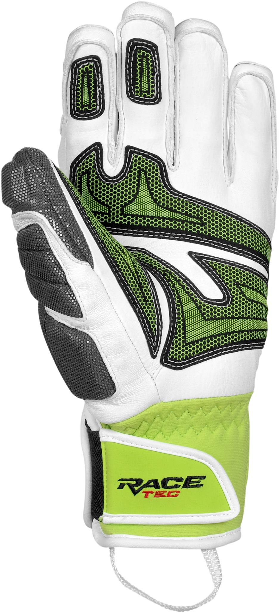 Lyžařské rukavice Reusch Race Tech 14 GS – white neon green - Ski a ... 4f3da1095e