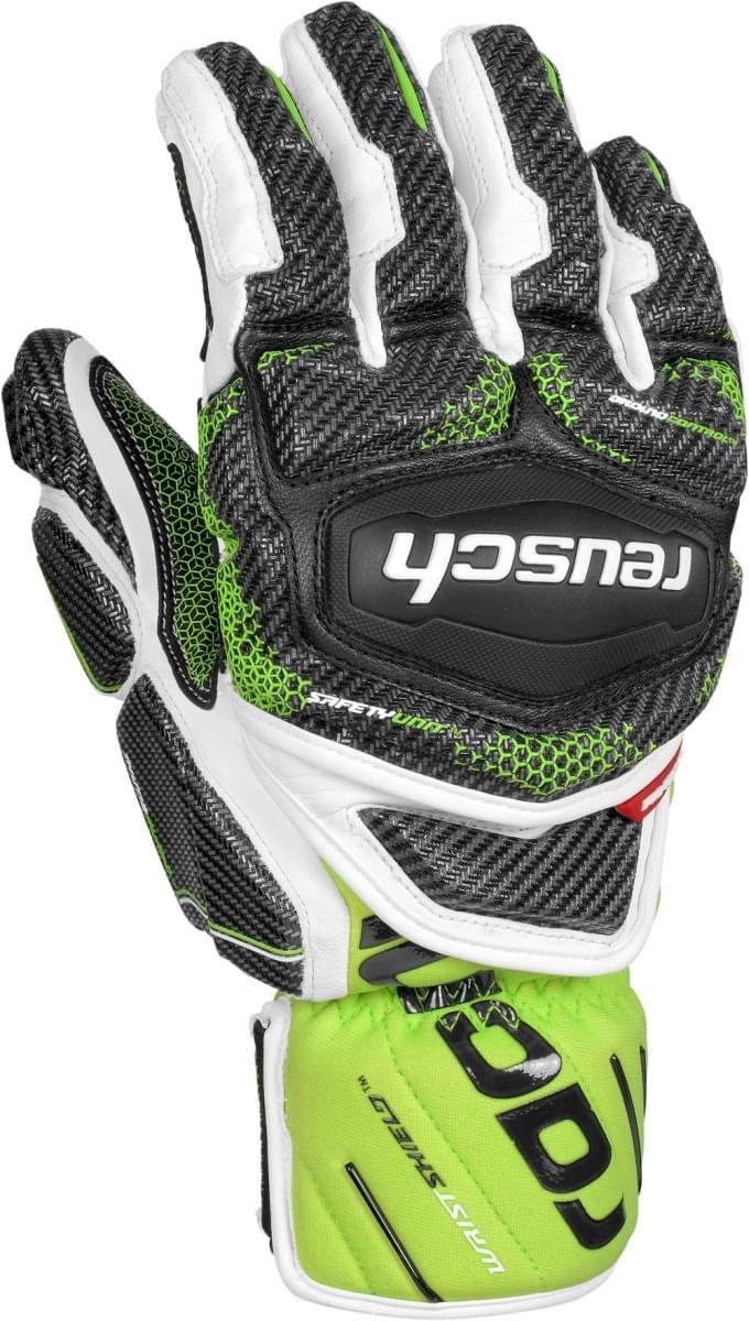 Lyžařské rukavice Reusch Race Tec 16 GS - white neon green - Ski a ... bac009c212