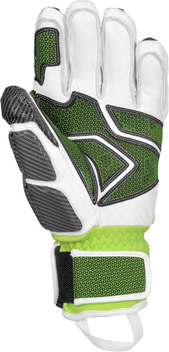 Lyžařské rukavice Reusch Race Tec 16 GS - white neon green - Ski a ... 0de54c1b11