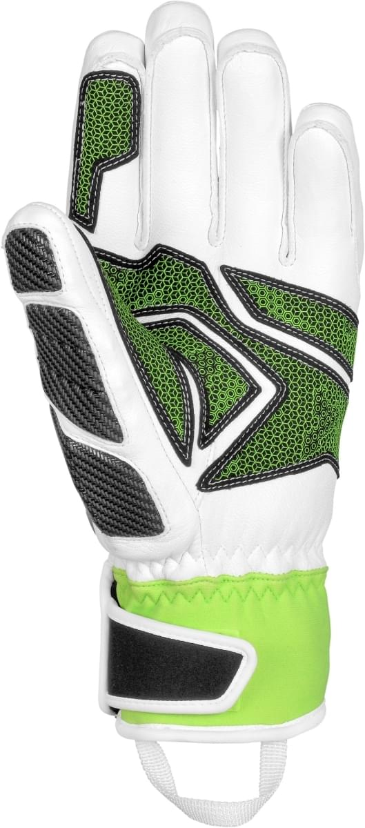 Lyžařské rukavice Reusch Race Tec 16 SC - white neon green - Ski a ... d8c360249e
