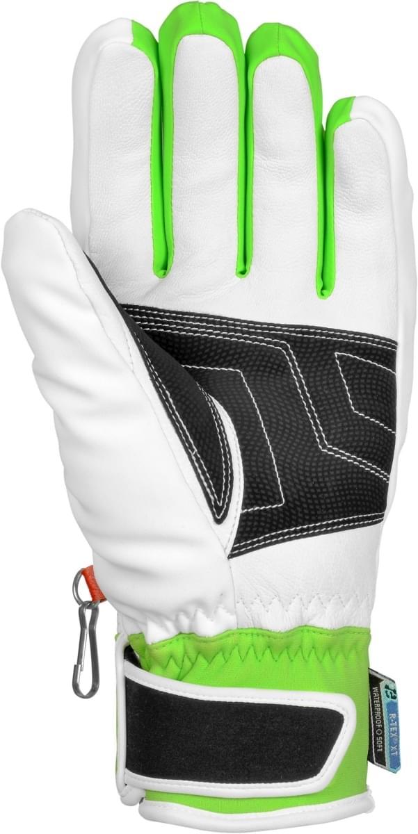 01050251b Lyžařské rukavice Reusch Training R - TEX XT - white/neon green ...