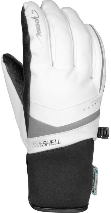 Dámské lyžařské rukavice Reusch Tomke STORMBLOXX – white silver ... 5ee180e3f5