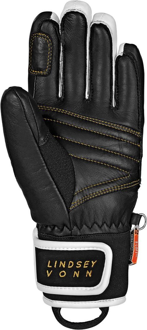 3f49ec171a8 Dámské lyžařské rukavice Reusch Lindsey - black white gold - Ski a ...