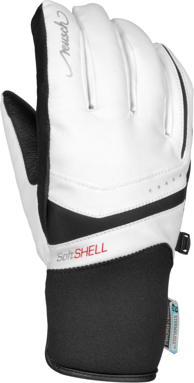 Dámské lyžařské rukavice Reusch Tomke STORMBLOXX - white black - Ski ... dbfef10ed5