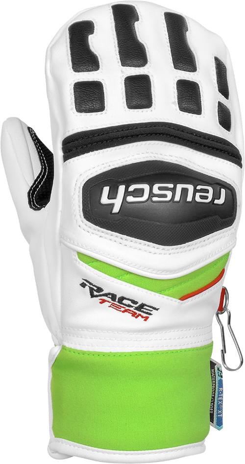 Dětské lyžařské rukavice Reusch Training R-TEX® XT Junior Mitten - white  neon green 8edd3d85b6