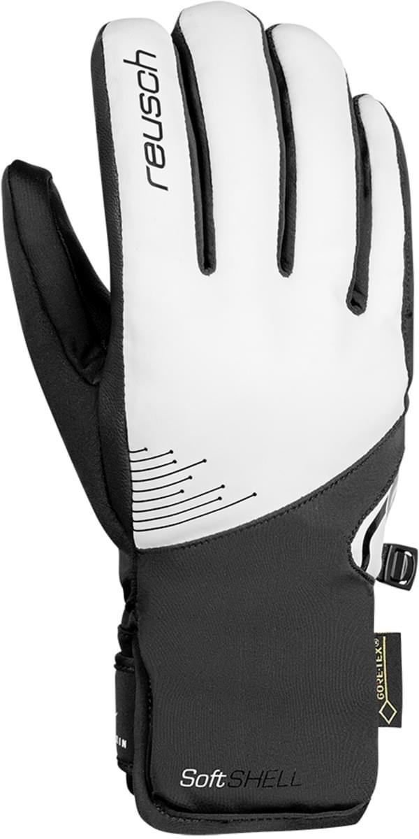 Dámské lyžařské rukavice Reusch Mikaela Shiffrin GTX - white black ... 8fc0bc27c7