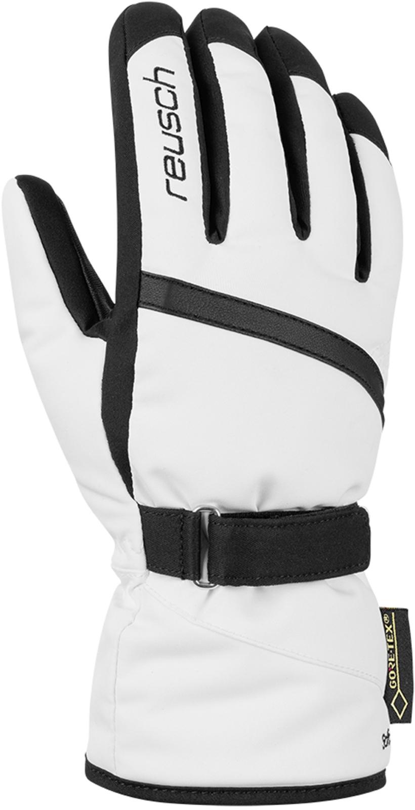 Dámské lyžařské rukavice Reusch Alexa GTX - white black - Ski a Bike ... 0477b4a203