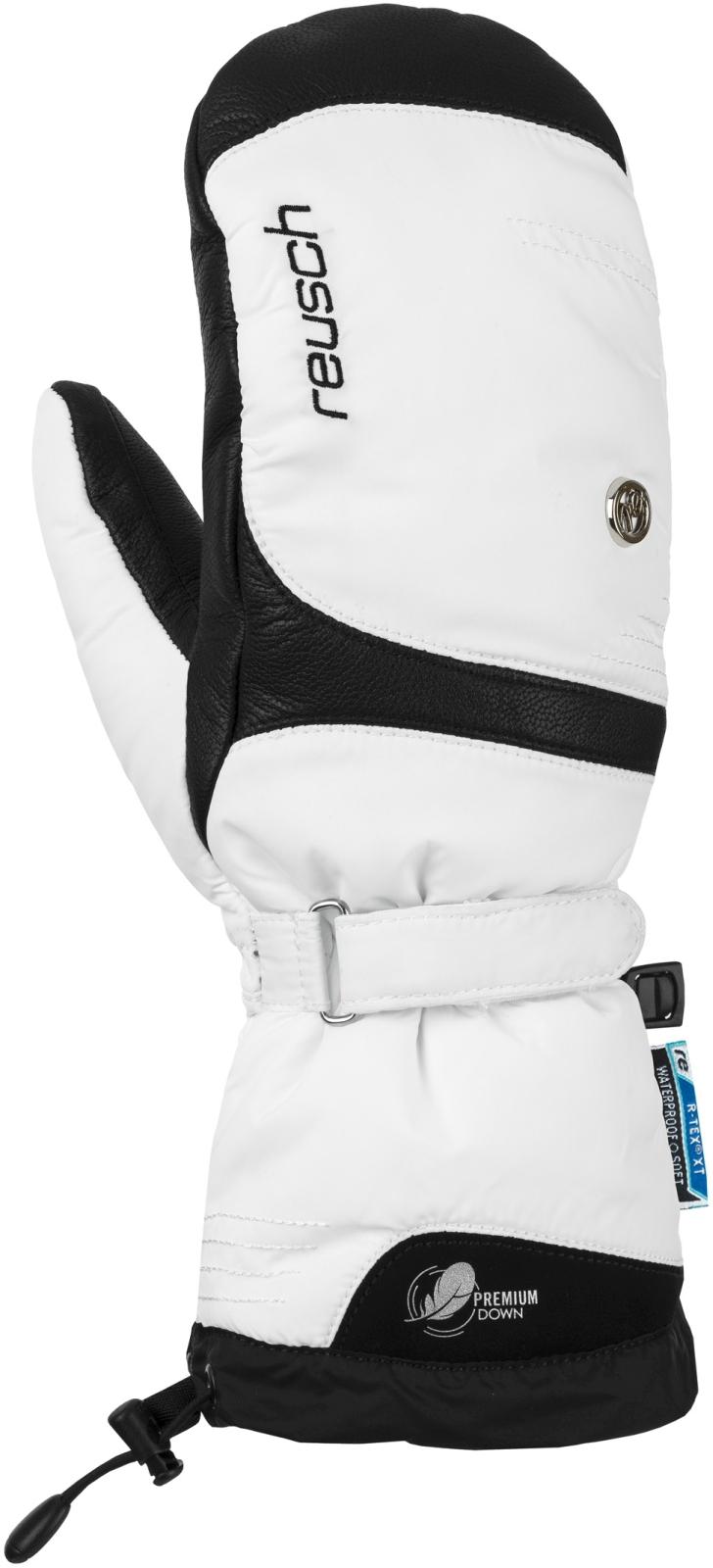 ... Dámské lyžařské palčáky Reusch Nuria R-TEX XT Mitten - white black ... d60298c8ba