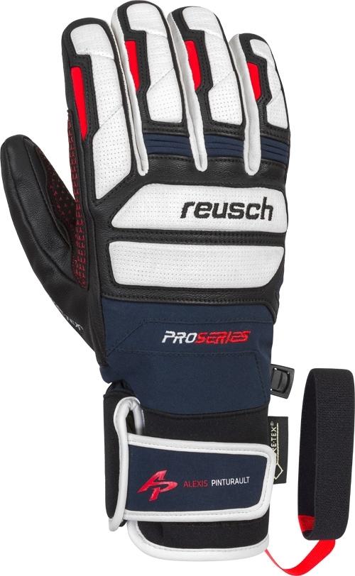 Lyžařské rukavice Reusch Alexis Pinturault GTX + Gore grip technology -  dress blue fire red 1189e2ee83