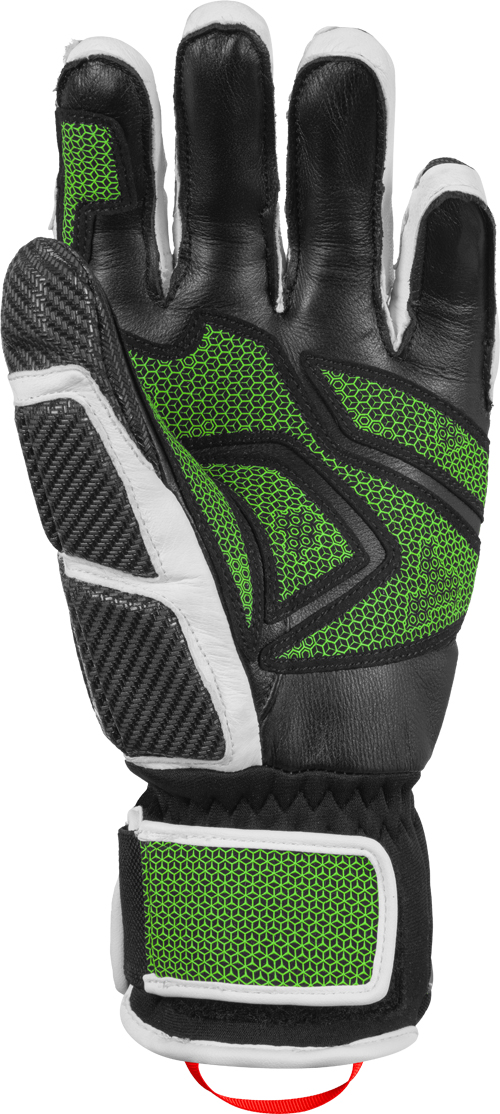Lyžařské rukavice Reusch Race Tec 18 GS - black white neon green ... f8940d4f89
