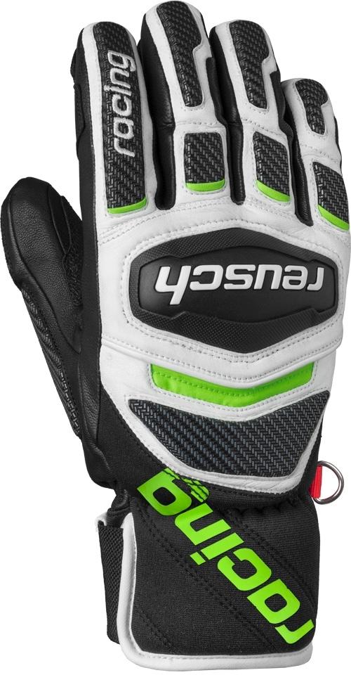 74fd9406d84 Lyžařské rukavice Reusch Race Tec 18 SC - black white neon green ...