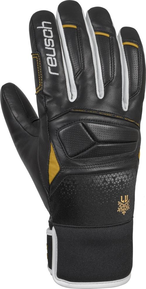 Dámské lyžařské rukavice Reusch Lindsey Vonn - black white gold ... 291c5deef3