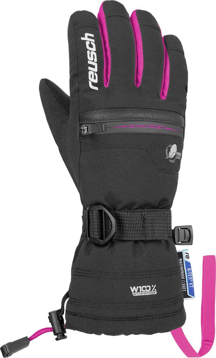 E-shop Reusch Luis R-TEX® XT Junior - black/pink glo 5,5