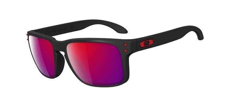 Sluneční brýle Oakley Holbrook - Matte Black/Positive Red Iridium uni