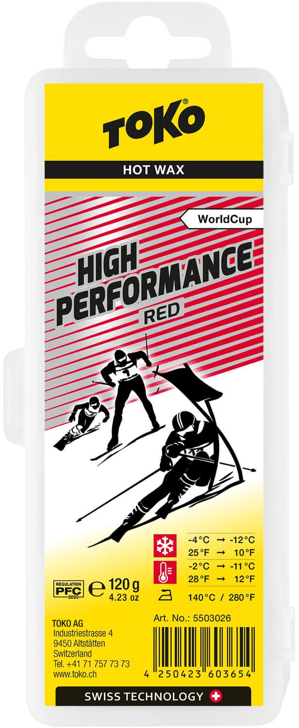 Toko High Performance Hot Wax red - 120g 120g
