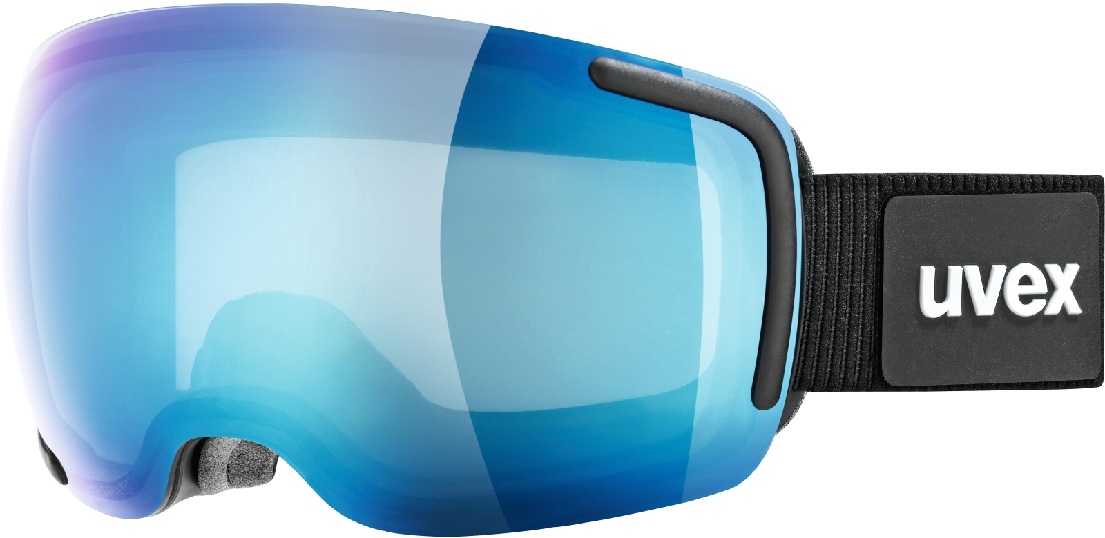 Uvex Big 40 FM Black-Blue DL/mirror blue clear (S2) uni