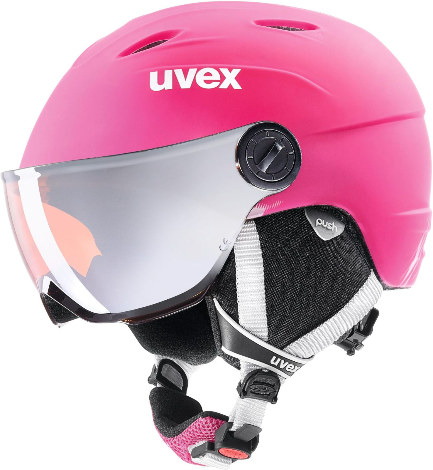Lyzarska helma s integrovanym zornikem levně  2009b9c690c