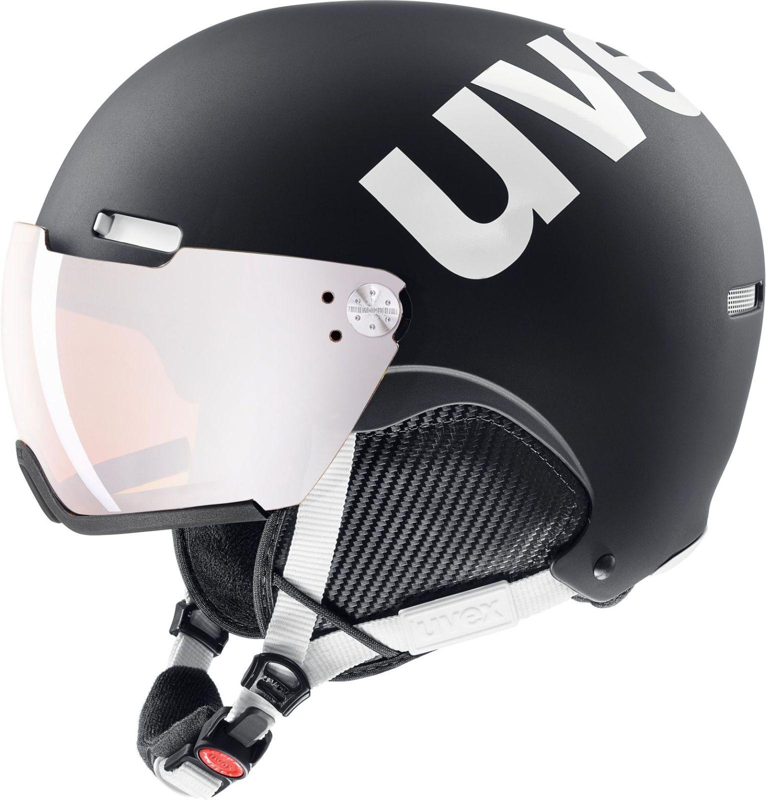 Uvex Hlmt 500 Visor - black-white mat 55-59