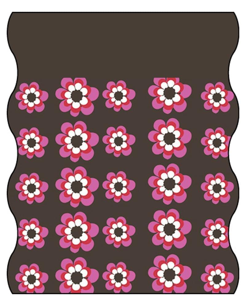 ec68d4a0642 Dětský šátek Lässig Twister Kids Fleece - flowers pink choco fleece choco