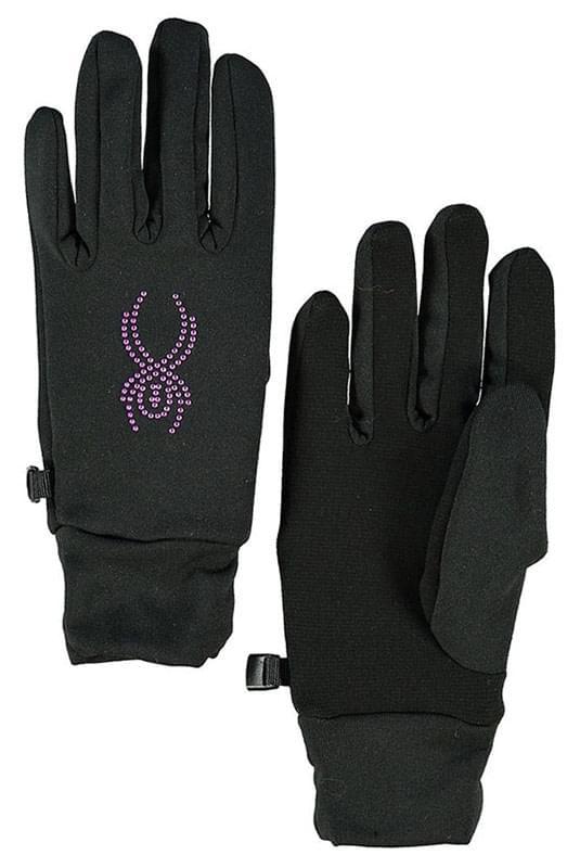Dámské rukavice Spyder Stretch Fleece Conduct - black bryte pink ... 794acd7c8a