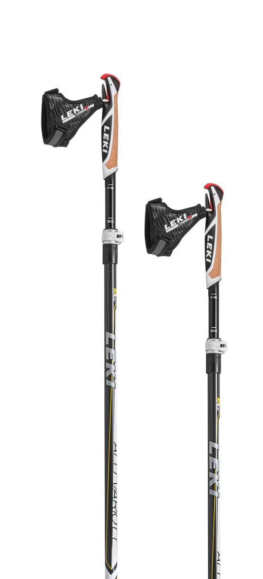 Leki Alu Vario CC anthracite/white-yellow-silver 145-165
