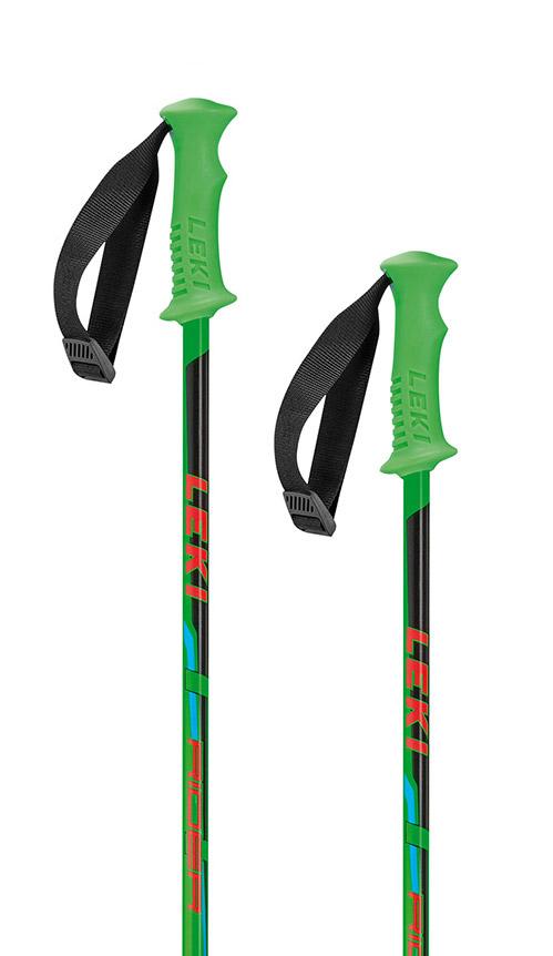 Dětské sjezdové hole Leki Rider JR - neon green 85