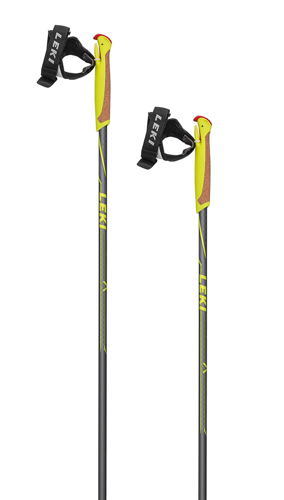 Leki Nordix anthracite/yellow-white 110