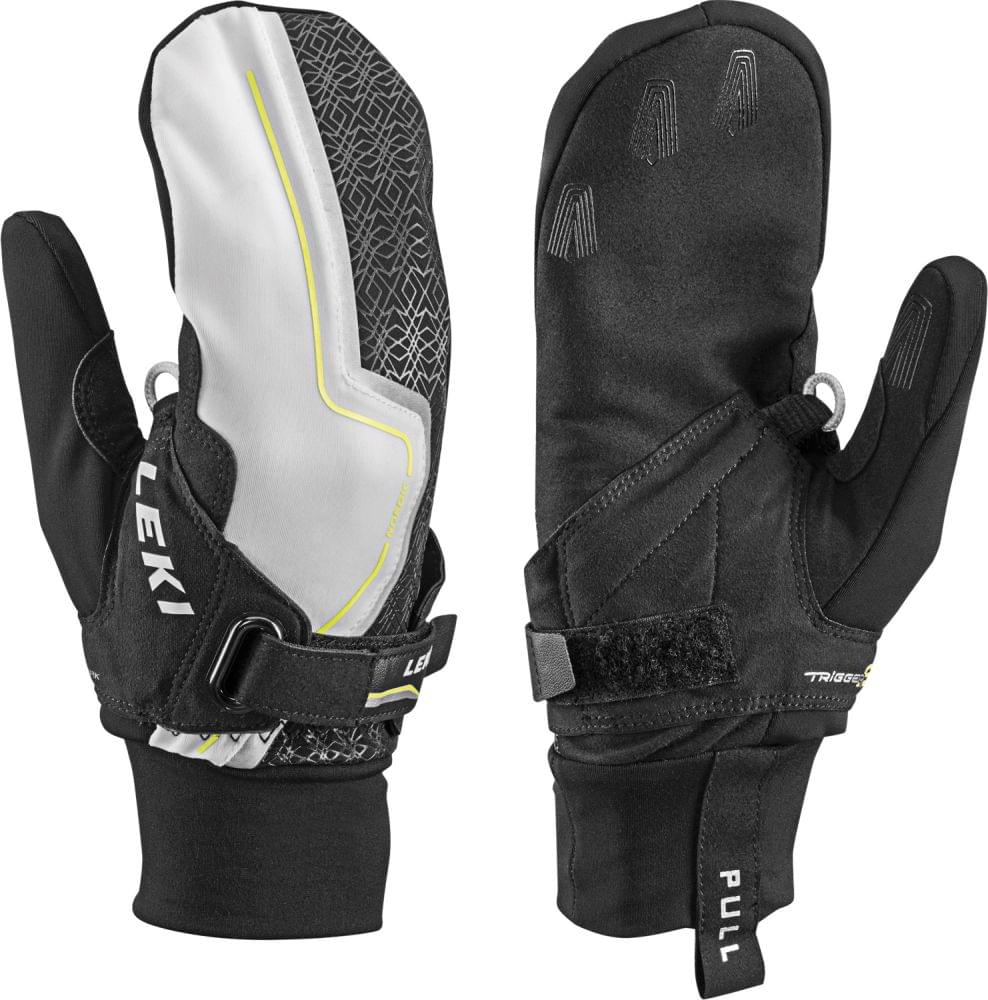 Leki Nordic Cruise Shark Lady Mitt black-yellow 8.0