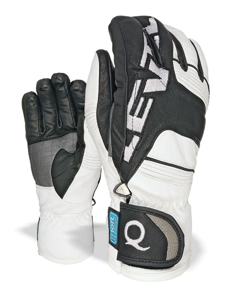 Pánské kožené rukavice Level Quantum I-Touch - black white - Ski a ... 41f5b384e9