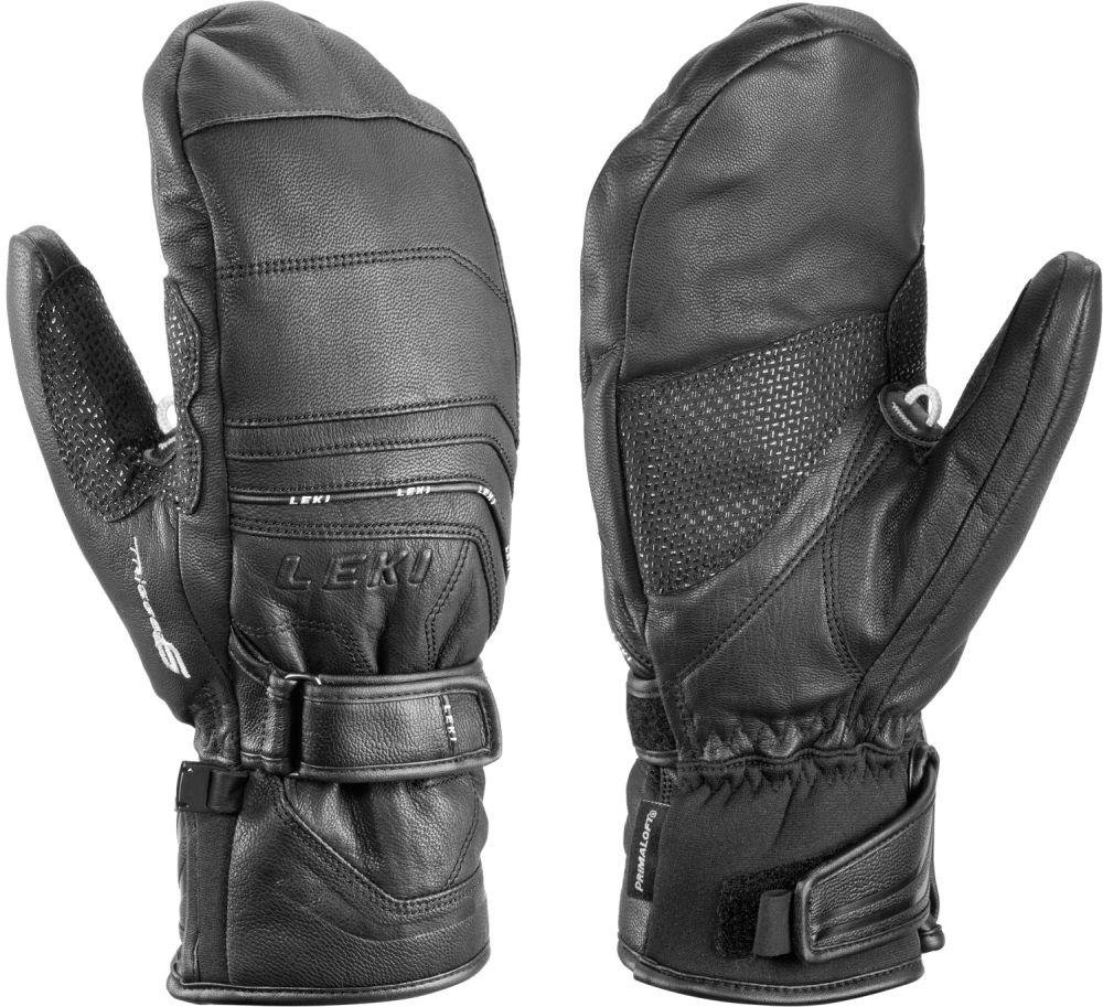 Lyžařské rukavice Leki Aspen S Mitten - black 9.5
