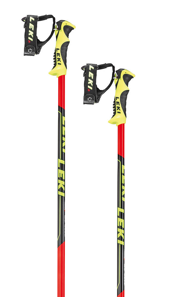 Leki Worldcup Lite SL - neonred/black/white/yellow 95