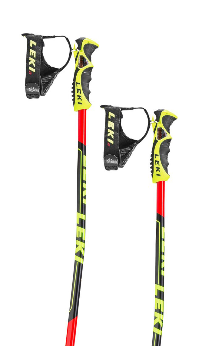 Leki Worldcup GS TBS - neonred/black/white/yellow 120