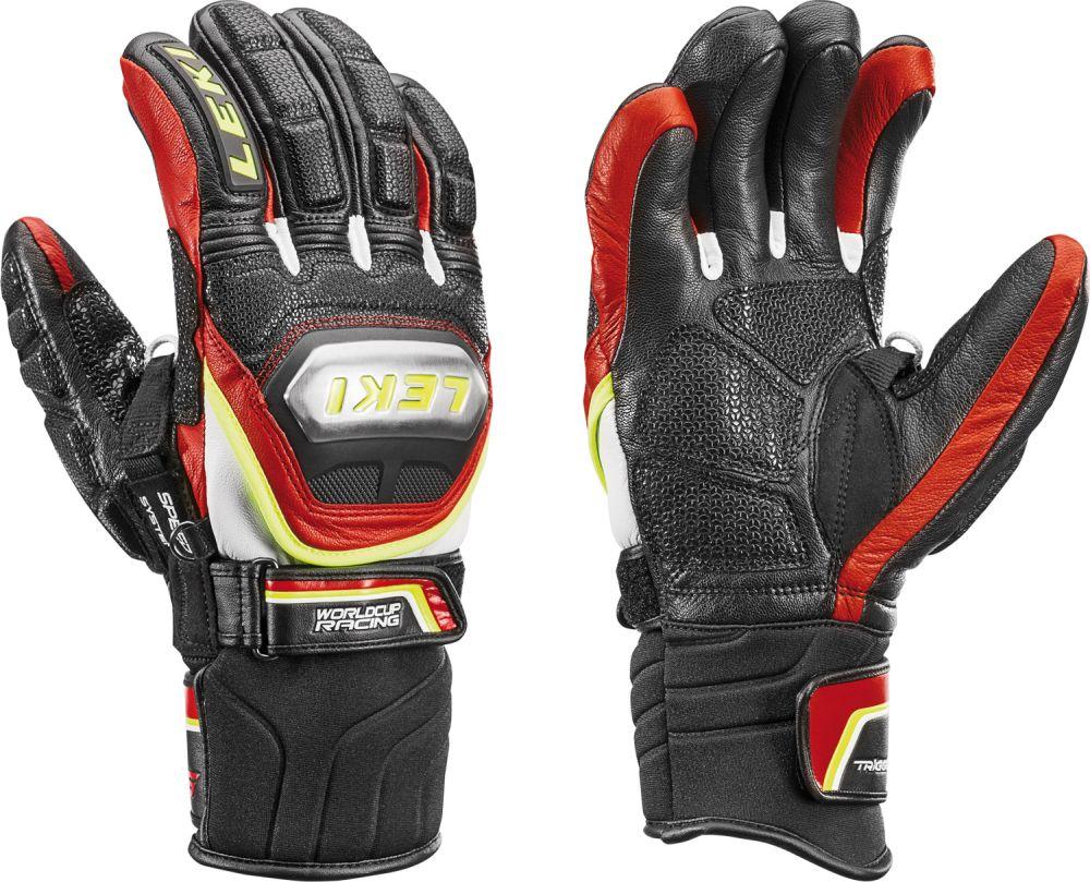 Lyžařské rukavice Leki Worldcup Race TI S Speed System black-red-white- yellow faf081003b