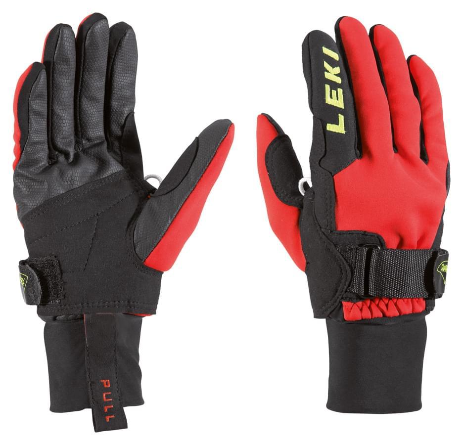 be766c3c8b7 Juniorské běžecké rukavice Leki Shark Cruiser Junior – red black yellow