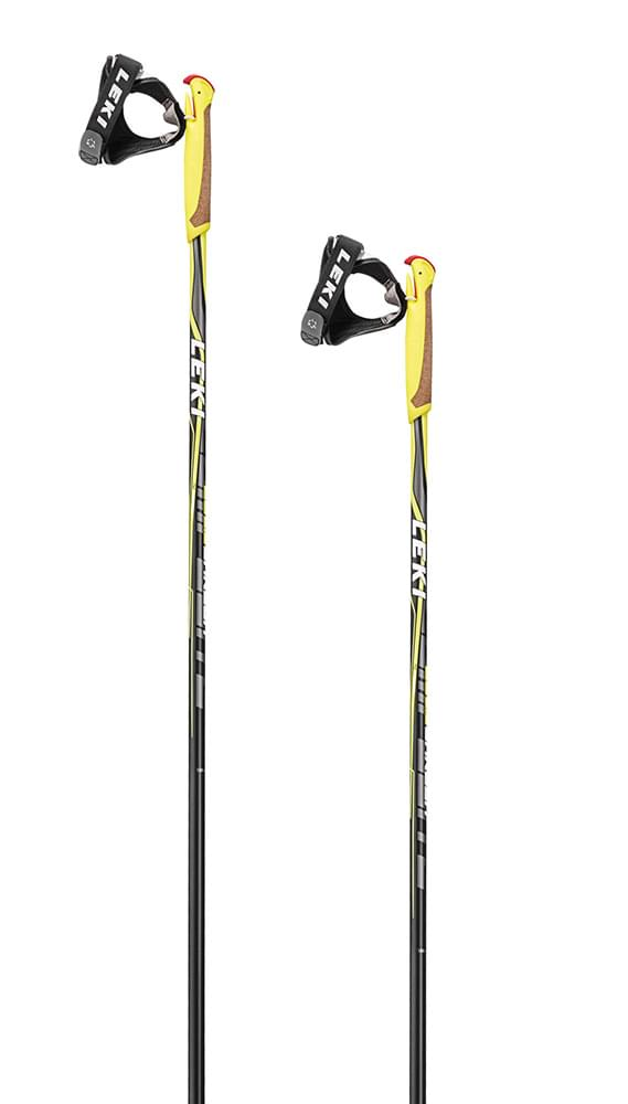 Leki CC 26 Carbon black-white-anthrazit-neonyellow 160
